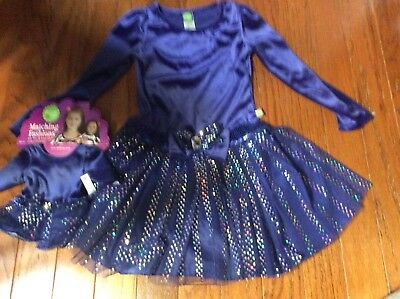 Dollie and Me Dress Size 5 with Matching Doll Outfit NWT