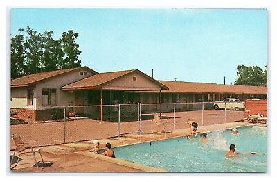 Disneyland Area Red Bird Motel Swimming Pool And Office Published Circa 1957