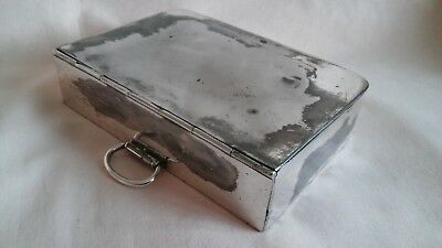 Vintage Rare Victorian Silver Plated Sandwich Box By Walker & Hall,well Used Co