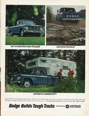 """1966 Dodge Camper Special Ad """"a truck that looks this good"""" ~ (model year 1966)"""