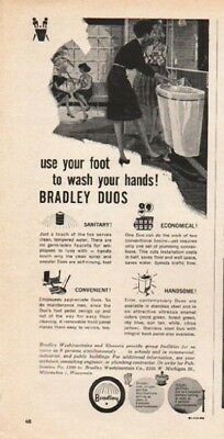 "1962 Bradley Duos Ad ""use your foot"""