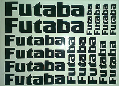 15 x Futaba Stickers Decals For R/C Plane,Heli,Car,Boat. Fuel/Water proof