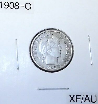 1908-O Barber Dime, Better Date New Orleans Issue