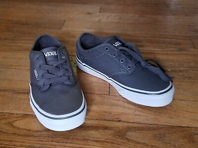 VANS KIDS ATWOOD Canvas Skate Shoes Size Y13 - Unisex PEWTER NEW NO ... 6c07fed4ef1