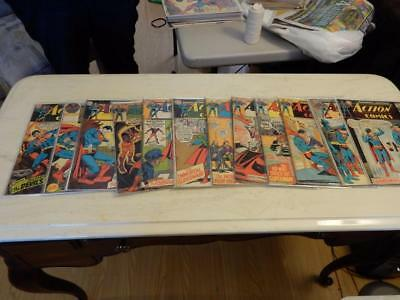 Lot of 12 Vintage DC Action Comics Vol 1 Estate Sale VG 5.0-5.5 Free Ship Lot #1