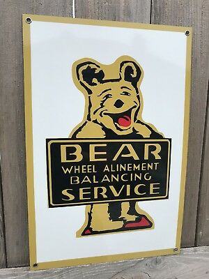 Bear alignment And Service vintage Style advertising sign 18 Inch