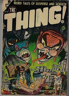 The Thing # 17 Last Issue Ditko Cover And Art 1954 Fair / Good
