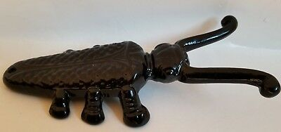 Vintage Cast Iron Insect Bug Beetle Cricket Boot Jack Shoe Remover Door Stop 10""