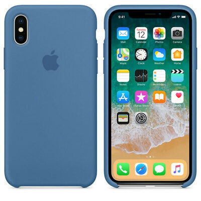 Denim Blue GENUINE ORIGINAL Apple Silicone Case NEW iPhone X RRP $39