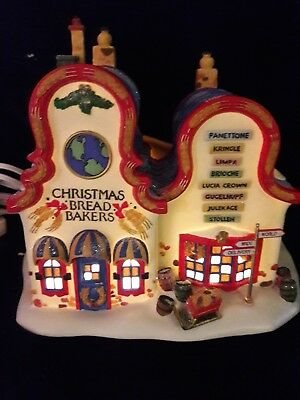 Dept 56 North Pole Series Christmas Bread Bakers...1996   Excellent Condition
