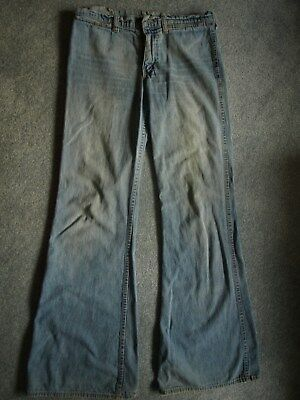 1970's? flare/ bell bottom vintage jeans with orange tag, 31, 34