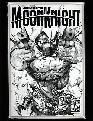 VENGEANCE OF THE MOON KNIGHT #1 - VHTF FRANCIS YU 1:50 Sketch Variant - SCARCE