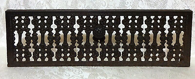 """Vintage Cast Iron Vent Grate Register Cover with Pull Handle 6.5""""x20.5"""" #2"""