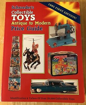 Vintage 1995 Schroeder's Collectible Toys Price Guide First Edition Antique Toys