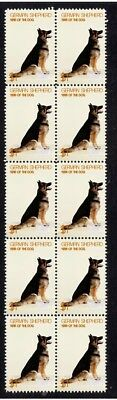 German Shepherd Year Of The Dog Strip Of 10 Mint Stamps 2