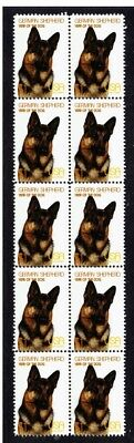 German Shepherd Year Of The Dog Strip Of 10 Mint Stamps 4