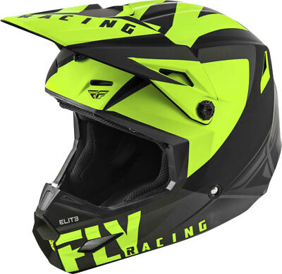 Fly Racing MX Motocross Kids Youth Elite Vigilant Helmet (Matte Black/Hi-Vis)