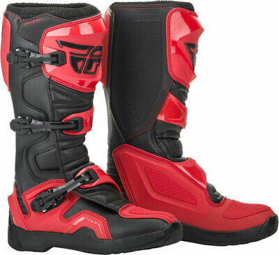 Fly Racing MX Motocross Maverik Boots (Red/Black) Choose Size