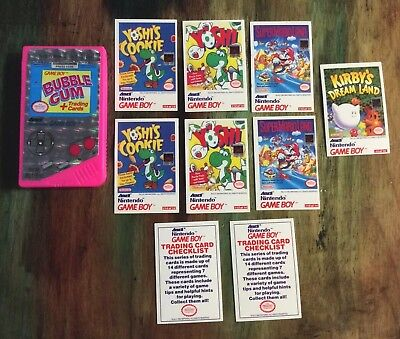 Rare Pink Vintage 1993 NINTENDO GAMEBOY Bubble Gum Trading Cards candy container