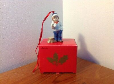 Bing & Grondahl Copenhagen Porcelain Boy With Bird Figurine Ornament