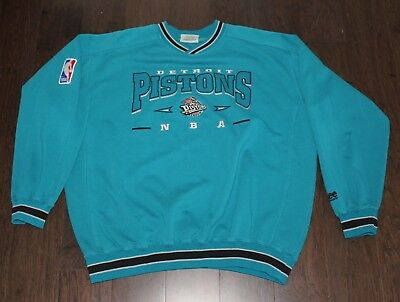 Lee Sport Detroit Pistons TEAL VTG 90s Sweatshirt Men's XL X-Large Horse Heavy