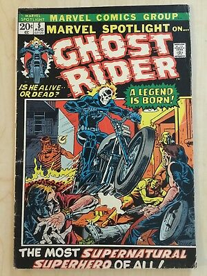 Marvel Spotlight #5 First Appearance and Origin Ghost Rider 1972 solid VG+ book