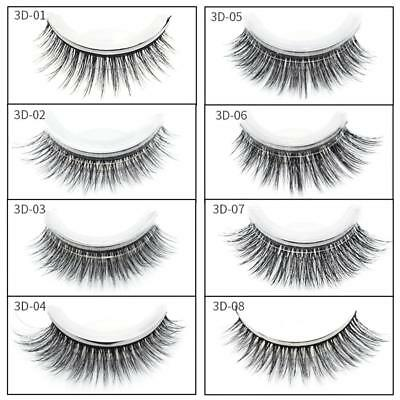3D Reusable No Glue False Eyelashes Self Adhesive cosmetic Fake Lashes Extension
