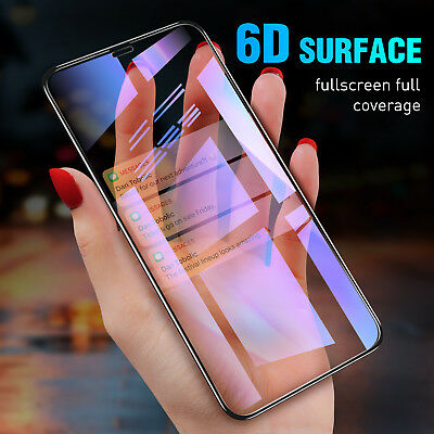 Screen Protector For iPhone XS MAX 8 7 6s 6D Curved Full Coverage Tempered Glass
