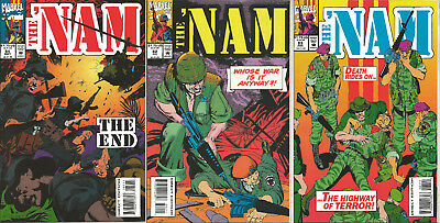 """The Nam #82-84 """"THE END!"""" last issue lot HTF Marvel C2"""