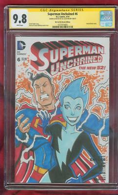 Superman 6 CGC SS 9.8 Original art Adventures 5 1st Livewire Homage Sketch