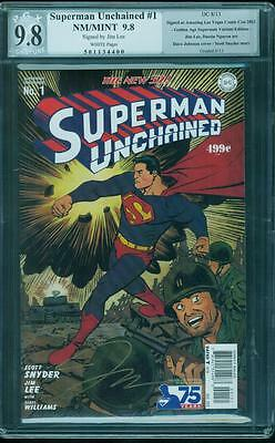 Superman Unchained 1 CGC PGX SS 9.8 Jim Lee Signed Rare Johnson 1930's Variant