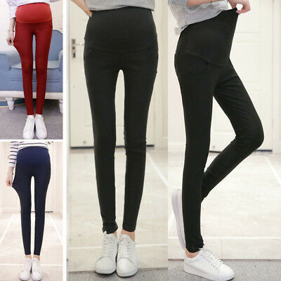 Pregnant Women Casual Winter Warm Thicken Pockets Long Pants Trousers Finess New