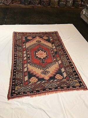 "Hand knotted Semi Antique Turkish Rug. 3'10"" x 5'8"" 100% Wool Pile."