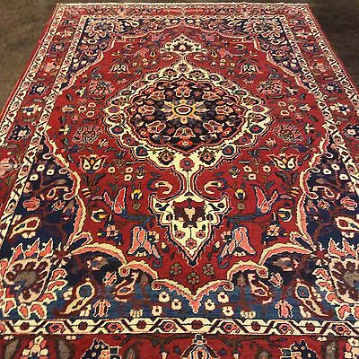 "Persian Bakhtiyari Rug 6'8""x10'4"" Hand knotted in Iran. 100% wool pile. Veg dyed"