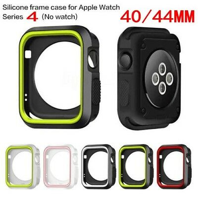 For Apple Watch iWatch Series 4 TPU Silicone Protector Cover Case Screen 40&44mm