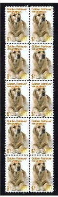Golden Retriever Year Of The Dog Strip Of 10 Mint Stamps 6