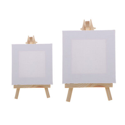 12x18cm / 20x25mm Mini Canvas with Wood Display Easel Painting Art Supplies