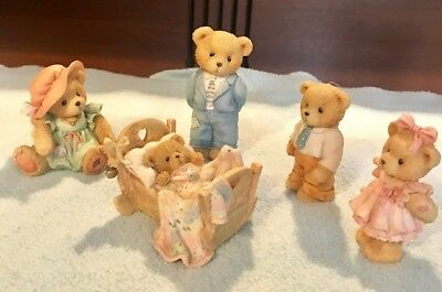 Lot of 5 Cherished Teddies family (pre-owned)