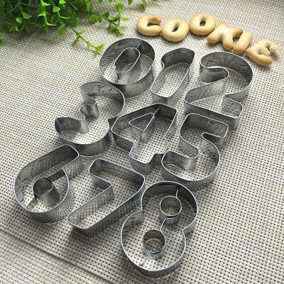 9pcs Number Set Cookie Cutter Stainless Steeel Biscuit Candy Pastry Mold DIY