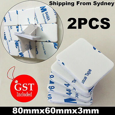 3M Double Sided Adhesive Foam Tape Sticky Pads 9448 A 80mmx60mmx3mm 2PCS