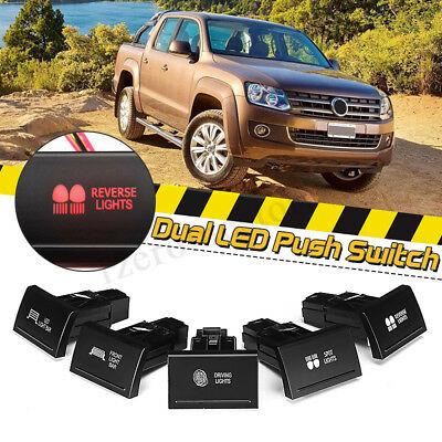 Dual LED Push Button Switch ON-OFF Driving Spot Front Light Bar For VW Amarok