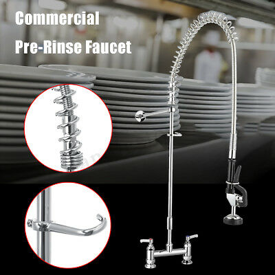 "50"" Restaurant Heavy Duty High Commercial Kitchen Pre-Rinse Faucet w/ Add-On Tap"