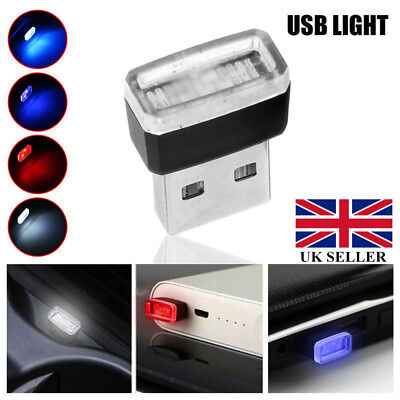 USB Wireless Flexible Ambient LED light For Car Interior Decoration UK 1-5PCS