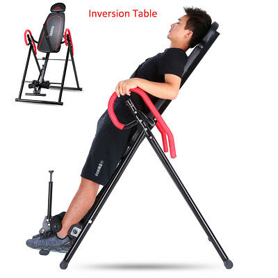 Gravity Inversion Table Back Therapy Fitness Reflexology Deluxe Fitness Exercise