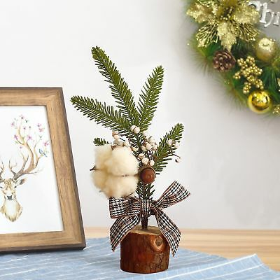 Mini Christmas Tree Festival Home Office Table Ornaments Xmas Decoration Gift