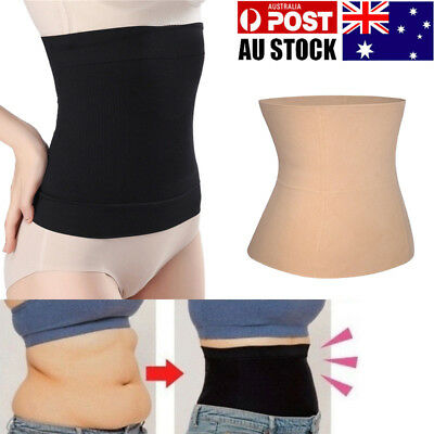 Women Body Shaper Tummy Trimmer Waist Cincher Stomach Control Girdle Slim Band