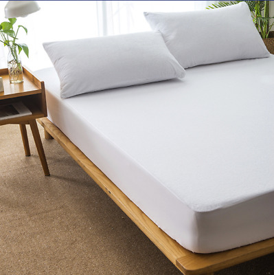 Bedding Waterproof Breathable Mattress Protector Cover Linen -Hypoallergenic Fit