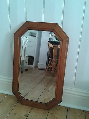 Antique vintage wood wall mirror fireplace mantle