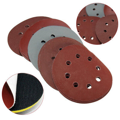 25* 125mm 5'' 8 Holes 800 1000 1500 2000 3000 Grit Sander Sand Paper Disc Pad UK