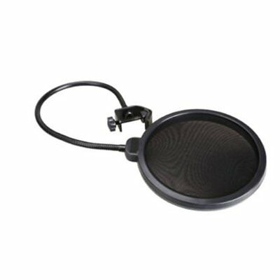 Double Layer Recording Studio Microphone Pop Filter Windscreen Mic Mask Shie ES